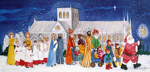 Christmas Card Artist.Daphne Vaughan Artist Based In Winchester Hampshire